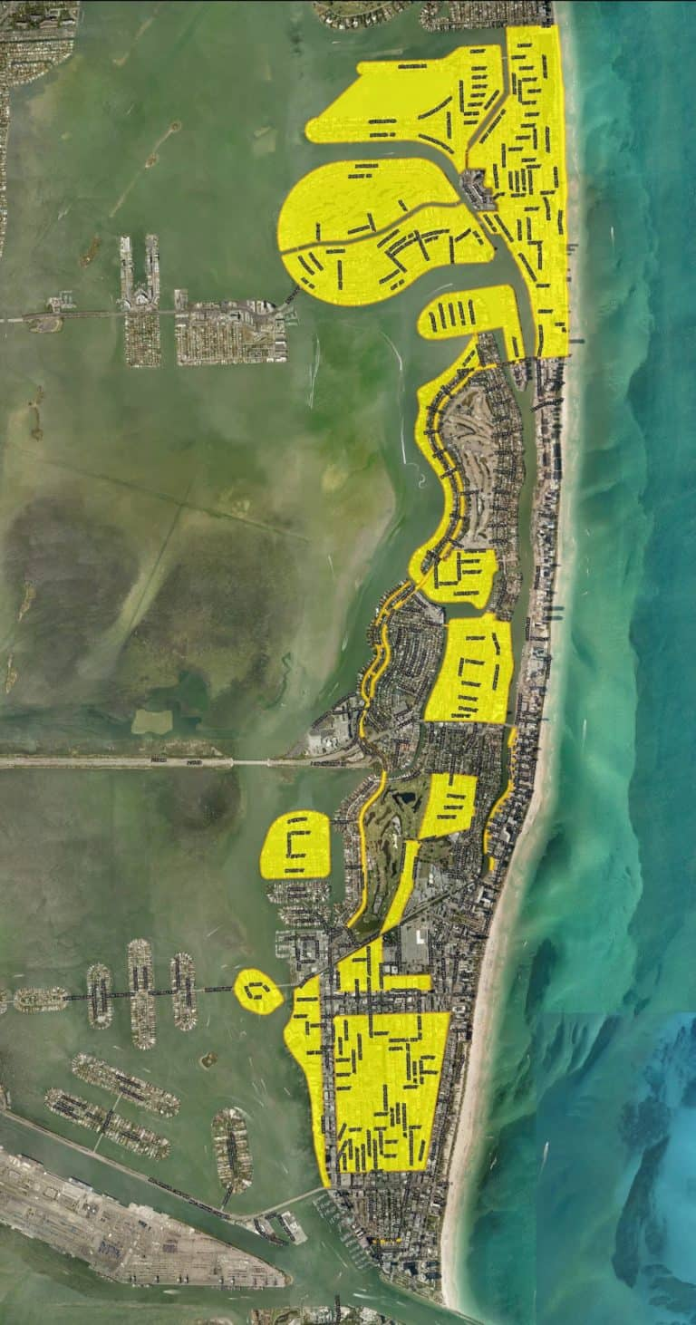 map of every miami beach street to be raised2025 - the